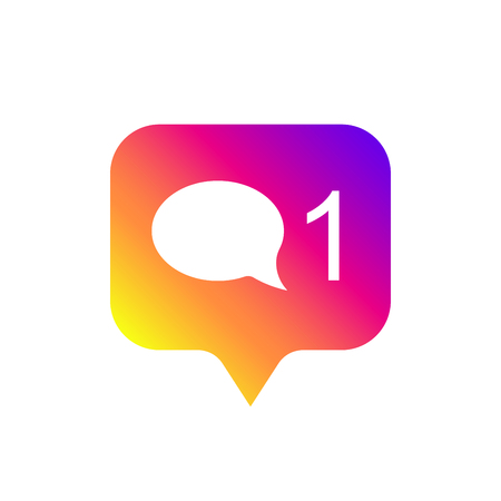 Counter notification Icon, color gradient. Social media like icon. Element for social network, web, ui, mobile, app. Vector illustration. EPS 10 Ilustrace