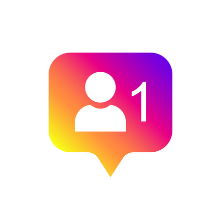 Follower flat icon. Flat simple design. Icon followers. Symbol, button, ui, web. Social media followers. Vector illustration. Isolate on white background. EPS 10
