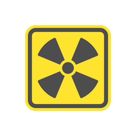 Yellow symbol flat yellow vector icon for websites and print