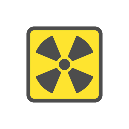 Yellow symbol flat yellow vector icon for websites and print. EPS 10