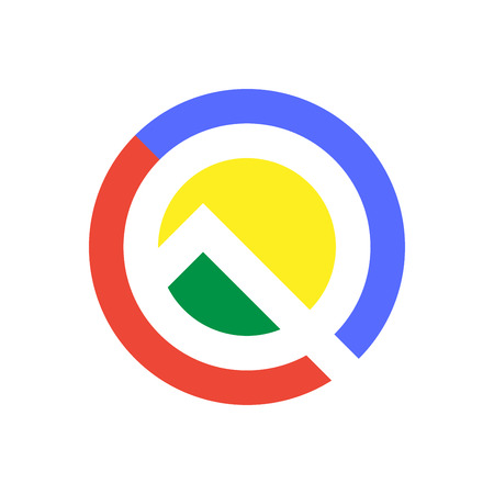 Letter Q logo icon design template elements. Android Q, Android 10 concept. Gradient color in google style. EPS 10