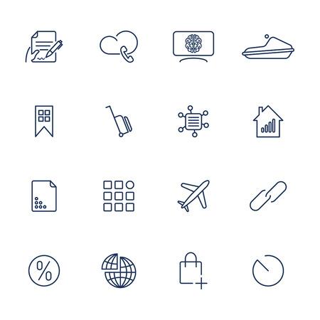 16 different icons for app, mobile, sites Ilustração
