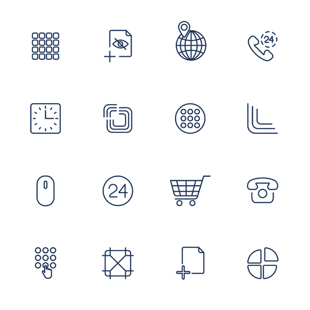User different Interface Icons Ilustração