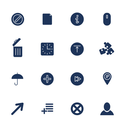 Set of 16 quality icons for Web and Mobile.