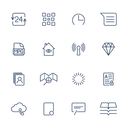 System User Interface UI Vector Icon Set. High Quality Minimal Lined Icons for All Purposes. Stockfoto - 124952060