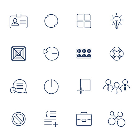 Outline vector icons for web and mobile. Stockfoto - 124952057