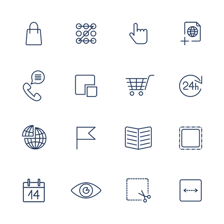 Thin line icon set. Icons for web, apps, programs and other Ilustração