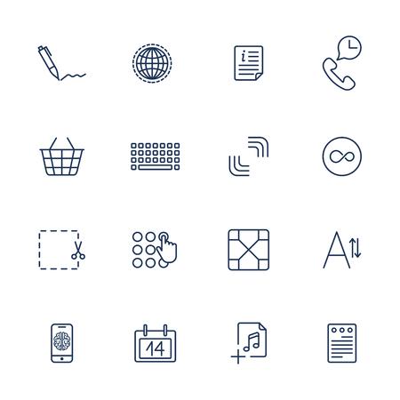 Simple internet icons set. Universal internet icons