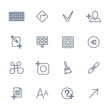 Universal Thin Line Black Icons