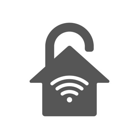 Smart home, IoT, protection concept, house in the form of a lock.