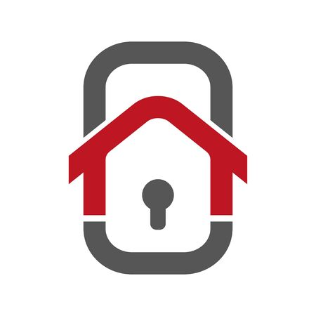 Home Security Logo Template. Banque d'images - 124952207