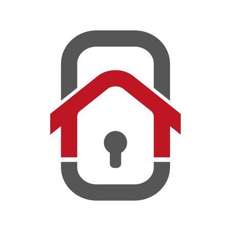 Home Security Logo Template. Ilustração