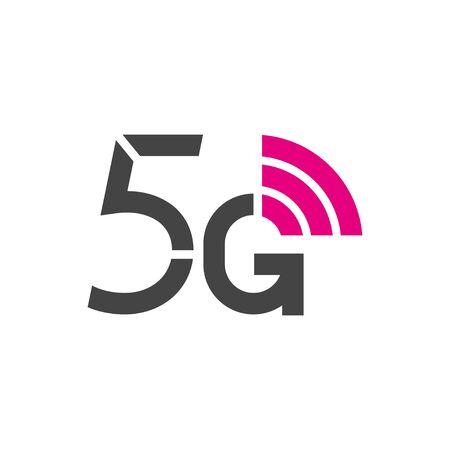 5G vector logo. 5th generation wireless internet network technology. Mobile devices, telecommunication, business, web, networking. Ilustração