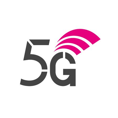 Vector sign of technology 5G network. Illustration 5g internet symbol in flat style.
