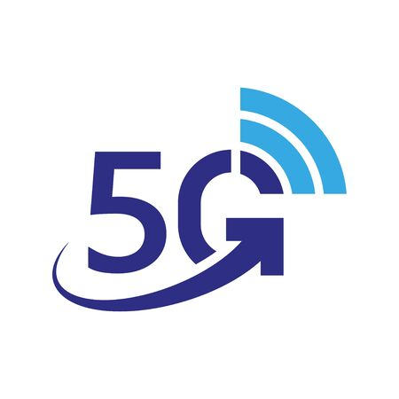 5G vector icon. 5th generation wireless internet network, connection information technology illustration. Mobile devices telecommunication business web networking.