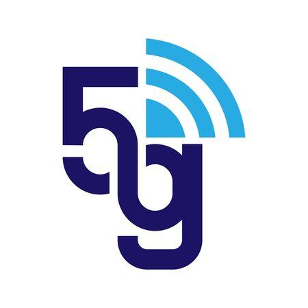 5G network logo. Logo network 5G connection Stock Illustratie