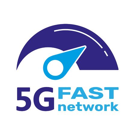 5G Logo network wireless systems and internet vector illustration. 5G fast internet banner concept. Vector sign, symbol 5G. Technology fast network 5G.