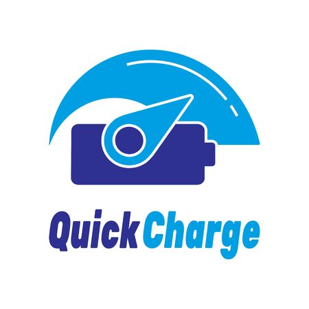 Vector design template elements for Quick and fast charge. Vector illustration. Stockfoto - 127655294