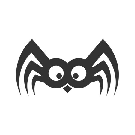 Spider funny sign. Illustration Vector. EPS 10 Çizim
