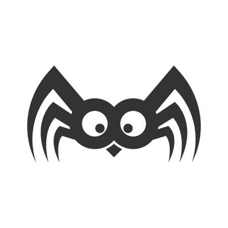 Spider funny sign. Illustration Vector. EPS 10 Illustration
