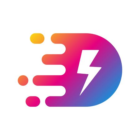 Fast Power Energy Template. Vector Illustration. EPS 10. Vector Illustration
