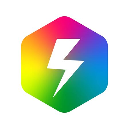 Flash abstract design vector template. Lighting bolt icon. Thunder electricity Power Fast Speed concept. Vector. EPS 10. Ilustração