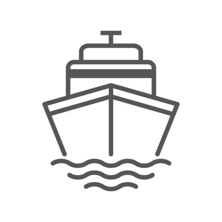 Cruise vector icon. Ship, transportation symbol. Vector sign isolated on white background. Simple vector illustration for graphic and web design.