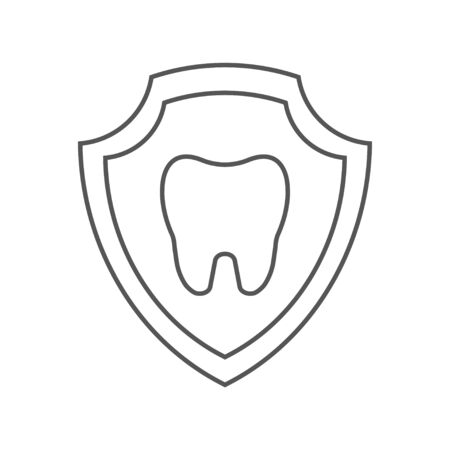 Tooth image inside a shield. Tooth protection idea. EPS 10