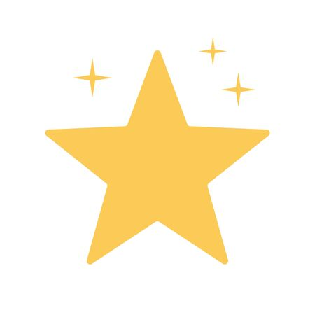 Image of a gold star. Golden star. EPS 10.