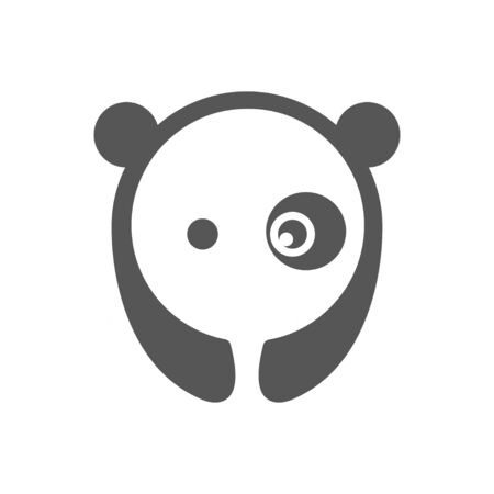 Panda vector  illustration graphic abstract premium sign. EPS 10