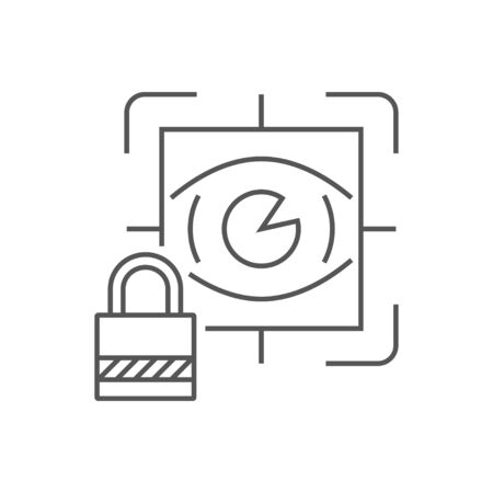 Eye scan. Security concept. Line icon for web sites and applications. EPS 10 Illustration