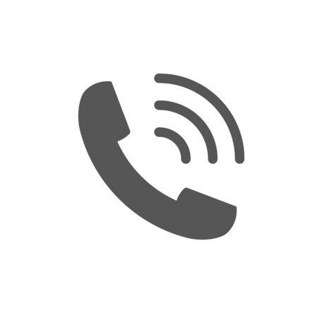 Telephone vector icon for web site  mobile app.