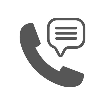 Phone Call vector icon. Style is flat symbol, dark gray color, white background.