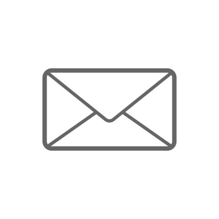 Letter email icon for user interface collection. Thin line letter email icon isolated on .