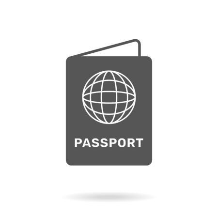 Passport icon on  background. Liner passport icon on  background simple. Ilustração