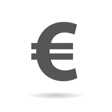 Euro sign icon in flat style. Money vector illustration on white isolated background. Business concept. EPS 10 Vectores