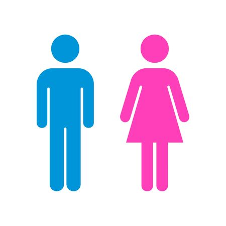 Man and Woman icon flat vector stock illustration, isolated colored sign. EPS 10 Ilustrace