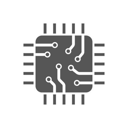 CPU-transparentes Symbol. CPU-Symboldesign. Einfache Elementvektorillustration.