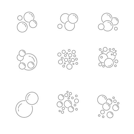 Bubble Icons Collection. icons set. illustration.
