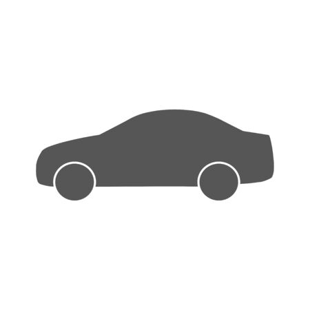 Car icon isolated on white background. Vector Illustration. EPS 10 Vectores