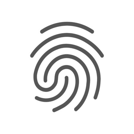 Finger print vector icon illustration isolated on white background. Vectores