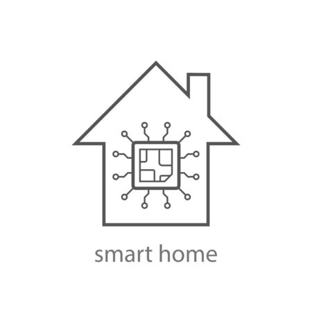 Smart home icon vector from internet of things collection. Thin line smart home outline icon vector illustration. Linear symbol. EPS 10.