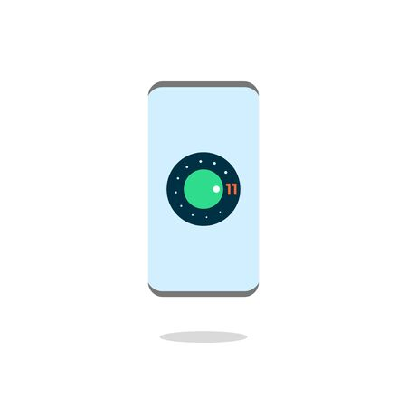 Smartphone, mobile phone isolated. Vector Illustration. EPS 10. 矢量图像