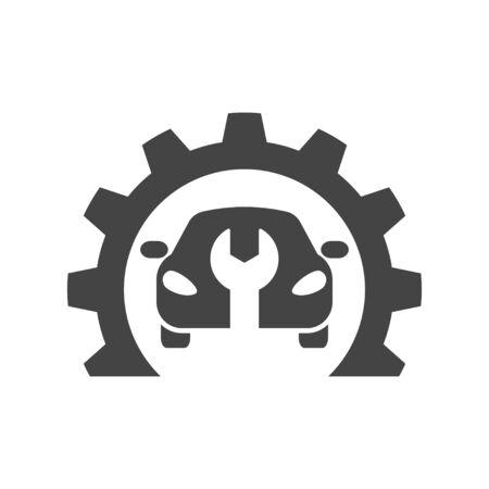 Car repair, abstract vector logo, design concept. Car service. Vector illustration. EPS 10. 矢量图像