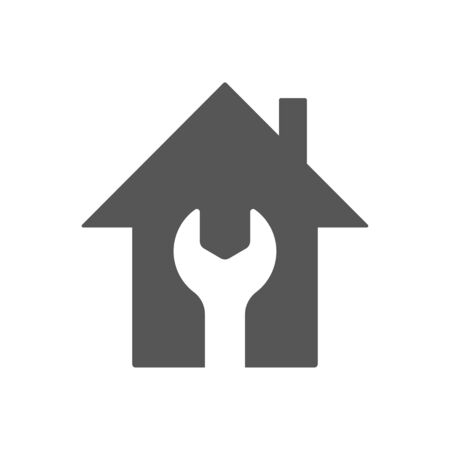 Home repair icon. Home repair symbol. Flat style. EPS 10. Vectores