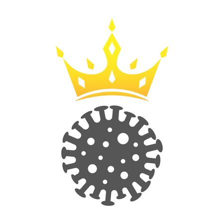 Coronavirus sign. Covin-2019 icon in flat style. EPS 10 Vectores