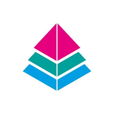 Pyramid symbol icon. Pyramid logo. Vector Illustration. EPS 10
