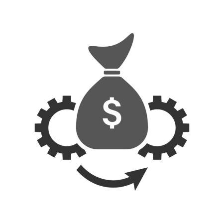 Asset Management vector icon illustration. Flat style. Symbol, logo vector graphics.