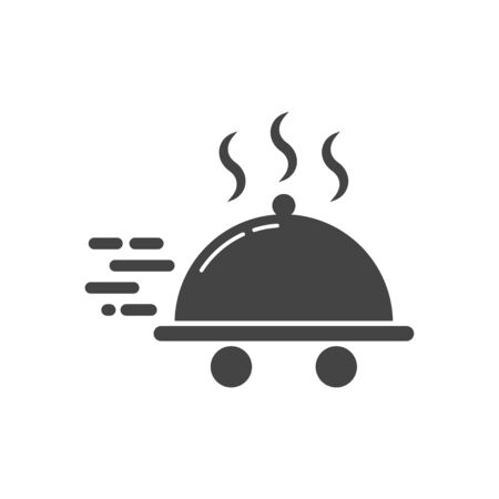 Food delivery icon. Food delivery logotype. Vector illustration in flat style. EPS 10