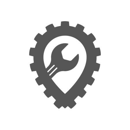 Auto repair garage. auto service icon. Repair template.